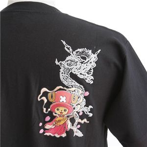むかしむかし ワンピースコレクション 和柄半袖Tシャツ  S-2438/チョッパー双龍 黒LL