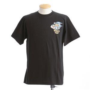 むかしむかし ワンピースコレクション 和柄半袖Tシャツ  S-2439/布袋ルフィ 黒L - 拡大画像