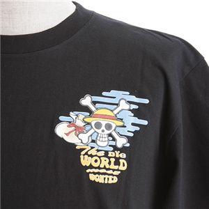 むかしむかし ワンピースコレクション 和柄半袖Tシャツ  S-2439 布袋ルフィ 黒 3L h02