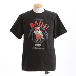 むかしむかし ワンピースコレクション 和柄半袖Tシャツ  S-2440/恵比寿サンジ 黒LL - 拡大画像
