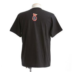 むかしむかし ワンピースコレクション 和柄半袖Tシャツ  S-2440/恵比寿サンジ 黒3L h03