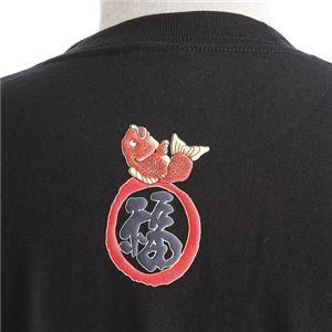 むかしむかし ワンピースコレクション 和柄半袖Tシャツ  S-2440/恵比寿サンジ 黒3L f04