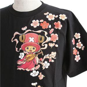 むかしむかし ワンピースコレクション 和柄半袖Tシャツ  S-2441/チョッパー弁財天 黒M h02
