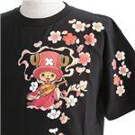 むかしむかし ワンピースコレクション 和柄半袖Tシャツ  S-2441/チョッパー弁財天 黒S