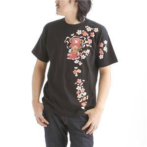むかしむかし ワンピースコレクション 和柄半袖Tシャツ  S-2441/チョッパー弁財天 黒M f04