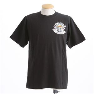 むかしむかし ワンピースコレクション 和柄半袖Tシャツ  S-2449/麦わらパイレーツ 黒4L