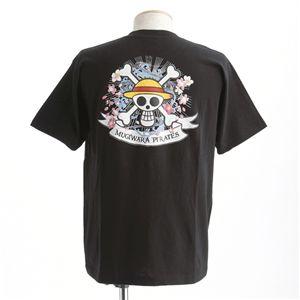 むかしむかし ワンピースコレクション 和柄半袖Tシャツ  S-2449/麦わらパイレーツ 黒L