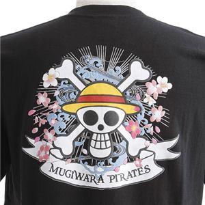 むかしむかし ワンピースコレクション 和柄半袖Tシャツ  S-2449/麦わらパイレーツ 黒LL