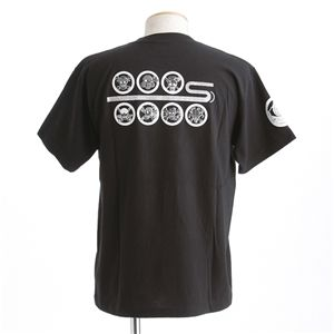むかしむかし ワンピースコレクション 和柄半袖Tシャツ  S-2450/家紋海賊旗 黒M