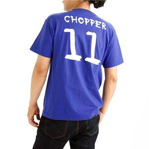 むかしむかし アニメコラボ!サッカーW杯日本代表応援Tシャツ 【11番 チョッパー】 ジャパンブルー 3L