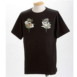 むかしむかし×マカロニほうれん荘 Tシャツ S-2665 【トシ&キンドーなごみ】 L ブラック - 拡大画像