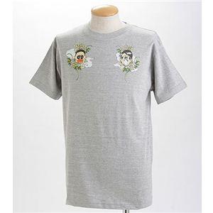 むかしむかし×マカロニほうれん荘 Tシャツ S-2665 【トシ&キンドーなごみ】 LL グレー - 拡大画像