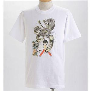 むかしむかし×マカロニほうれん荘 Tシャツ S-2666 【ドラゴンロック】 M ホワイト - 拡大画像