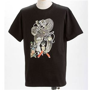 むかしむかし×マカロニほうれん荘 Tシャツ S-2666 【ドラゴンロック】 LL ブラック