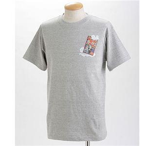 むかしむかし×マカロニほうれん荘 Tシャツ S-2667 【マカロニ列島】 L グレー