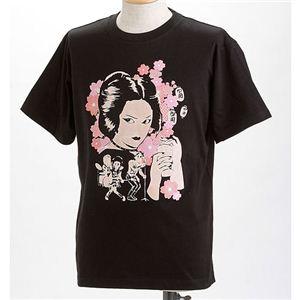 むかしむかし×マカロニほうれん荘 Tシャツ S-2668 【御用ほうれん荘】 S ブラック - 拡大画像