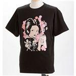 むかしむかし×マカロニほうれん荘 Tシャツ S-2668 【御用ほうれん荘】 L ブラック