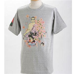 むかしむかし×マカロニほうれん荘 Tシャツ S-2669 【二十五才の決断】 L グレー