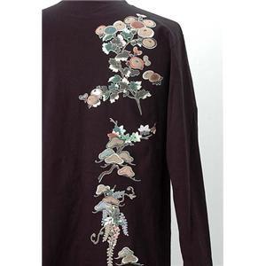 語れる立体和柄ロングTシャツ S-1952/花つくし LL