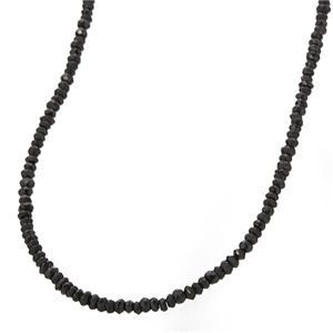 ブラックスピネルネックレス 45cm