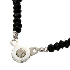 ブラックスピネルネックレス 42cm h03