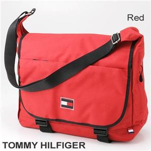TOMMY HILFIGER メッセンジャーバッグ レッド - 拡大画像