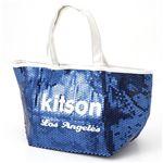 【¥4,980】KITSON(キットソン) スパンコール ミニ トートバッグ 3559 ネイビー/ホワイト