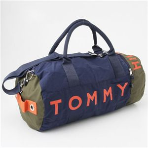 TOMMY HILFIGER(トミーヒルフィガー) ボストンバッグ L500039-344 グリーン/ネイビー