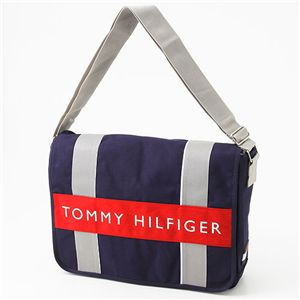TOMMY HILFIGER(トミーフィルフィガー) メッセンジャーバッグ L500082 Navy/Red