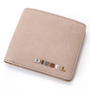 DIESEL(ディーゼル) レザー折財布 Taupe