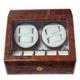 LUHW(ローテンシュラーガー) LED付ワインディングマシーン 4本巻き上げ ダークウッド 写真1