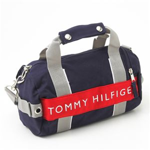 TOMMY HILFIGER(トミーフィルフィガー) マイクロミニダッフルバッグ MICRO MINI DUFFLE L200150-467・Navy×Red