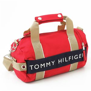TOMMY HILFIGER(トミーヒルフィガー) マイクロミニダッフルバッグ MICRO MINI DUFFLE L200150-600・Red×Navy