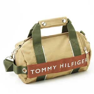 TOMMY HILFIGER(トミーヒルフィガー)マイクロミニダッフルバッグ MICRO MINI DUFFLE L200150-261 Khaki×Brown