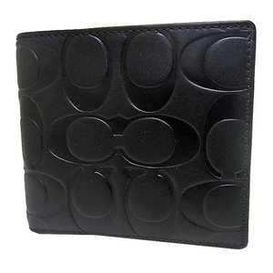 COACH(コーチ)シグネチャー二つ折り財布 F74531 BLK