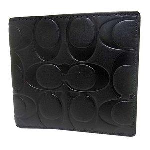 COACH(コーチ)シグネチャー二つ折り財布 F74531 BLK - 拡大画像