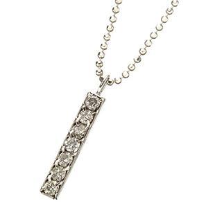 すっきり7粒ダイヤ☆プラチナ900トップダイヤ計0.2ctペンダント h02