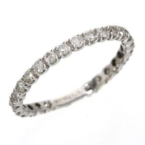 K18WG(18金ホワイトゴールド)ダイヤリング エタニティリング(指輪)計0.5ct 125401 9号