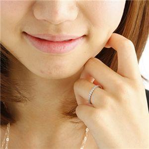 K18WG(18金ホワイトゴールド)ダイヤリング エタニティリング(指輪)計0.5ct 125401 7号