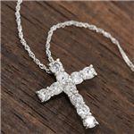 PT1000(純プラチナ)計0.5ctダイヤモンドクロスペンダント(十字架ネックレス)約42cm  税込:29,800円