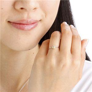 K18WG (ホワイトゴールド)0.25ctライトブラウンダイヤリング 指輪 183828 15号