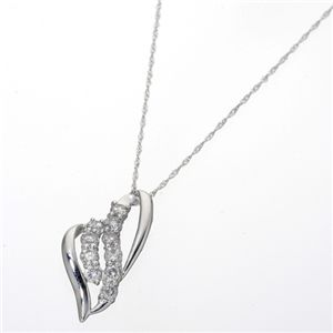 K18/0.5ct ダイヤモンドペンダント ホワイトゴールド - 拡大画像