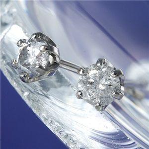 K18WG(ホワイトゴールド)計0.2ct一粒ダイヤモンドピアス 164714