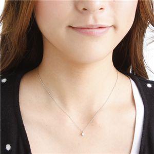 純プラチナ0.2ctダイヤモンドペンダント/ネックレス