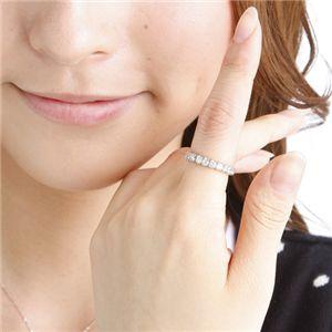 【訳あり・在庫処分】シルバー925 キュービックジルコニア フルエタニティリング(指輪)156239 9号