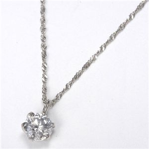 純プラチナ 0.3ctダイヤモンドペンダント/ネックレス - 拡大画像