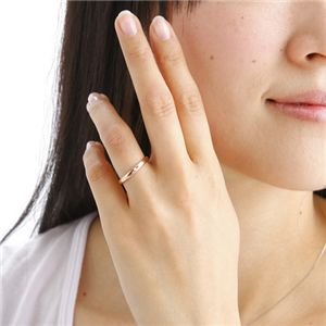 PGピンクダイヤリング 指輪 サザンクロスリング 9号 h02