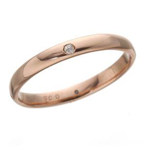PGピンクダイヤリング 指輪 サザンクロスリング 9号 h03