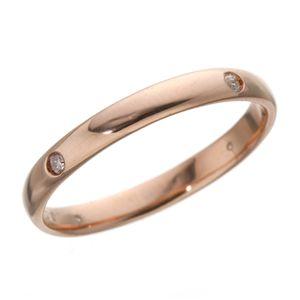 PGピンクダイヤリング 指輪 サザンクロスリング 9号 f04