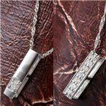 【訳あり・在庫処分】0.1ct 純プラチダイヤモンドリバーシブルペンダント/ネックレスの画像